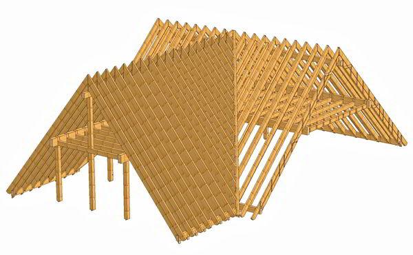 Bauberatung Franz - 3D Modell eines Dachstuhls 1