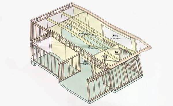 Bauberatung Franz - Referenzprojekte - 3D Modell des Umbaus