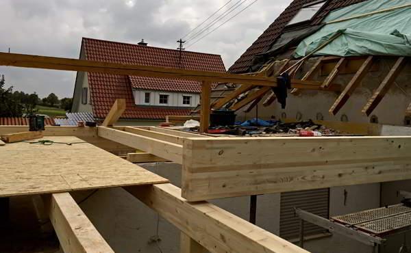 Bauberatung Franz - Bauleitung - Holzständerkonstruktion Der Wohnraumerweiterung