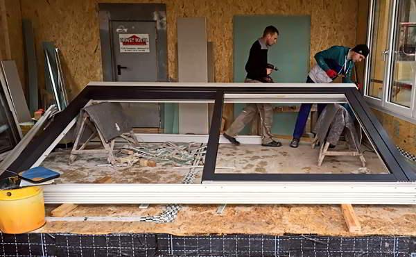 Bauberatung Franz - Bauleitung - Einbau Der Glasfront